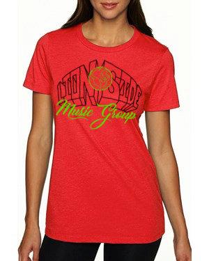 Women's Alternative Lion Side Tee (Red/Lime/Black)