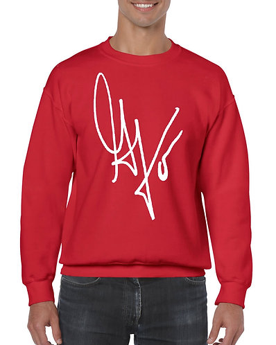 "Unisex ""G's Signature"" Crewneck Sweatshirt (Red/White)"
