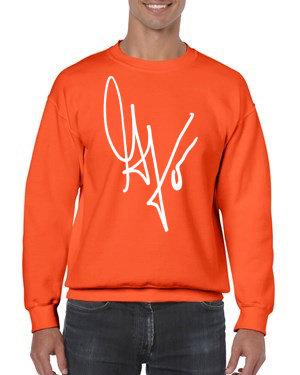 "Unisex ""G's Signature"" Crewneck Sweatshirt (Orange/White)"