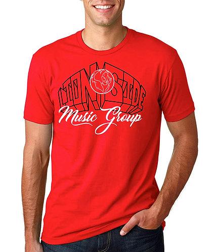 Men's Alternative Lion Side Tee (Red/White/Black)