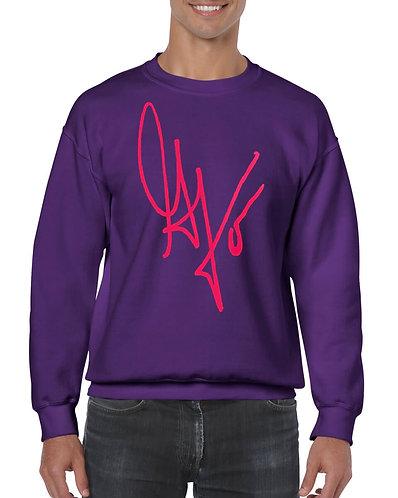 "Unisex ""G's Signature"" Crewneck Sweatshirt (Purple/Hot Pink)"