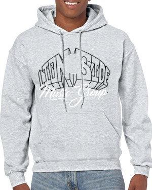 Unisex Alternative Lion Side Hoodie (Grey/White/Black)
