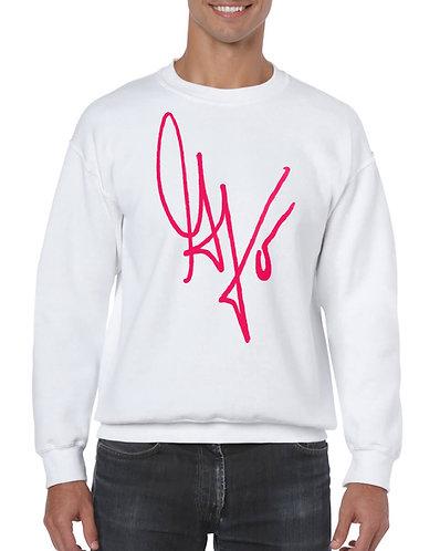"Unisex ""G's Signature"" Crewneck Sweatshirt (White/Hot Pink)"