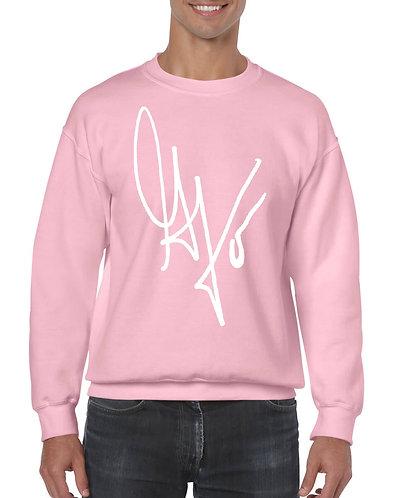"Unisex ""G's Signature"" Crewneck Sweatshirt (Pink/White)"