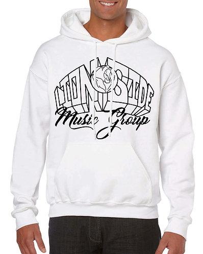 Unisex Alternative Lion Side Hoodie (White/Black)