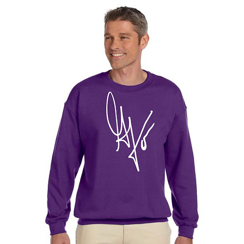 "Unisex ""G's Signature"" Crewneck Sweatshirt (Purple/White)"