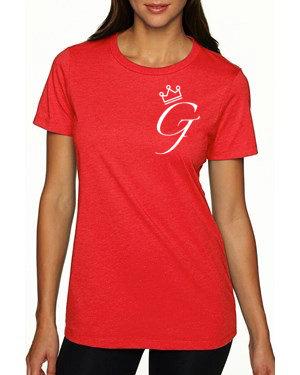 "Women's ""Crown Me G"" Tee (Red)"