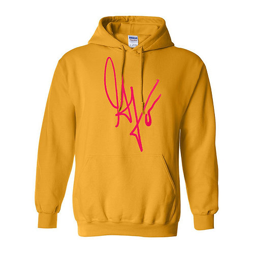 Unisex G's Signature Hoodie (Gold/Hot Pink)