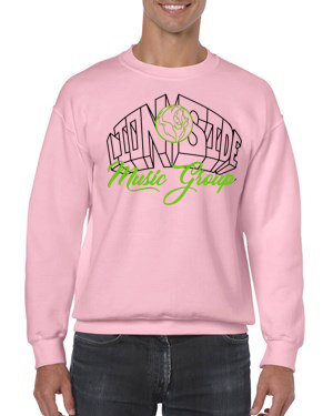 Unisex Alternative Lion Side Crewneck Sweatshirt (Pink/Lime/Black)