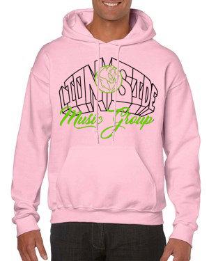 Unisex Alternative Lion Side Hoodie (Pink/Lime/Black)