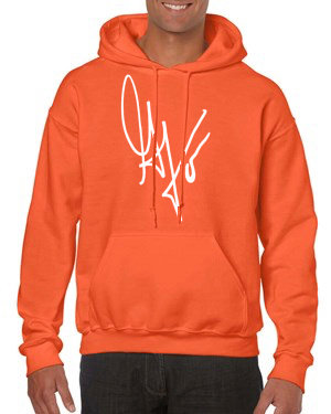 Unisex G's Signature Hoodie (Orange/White)