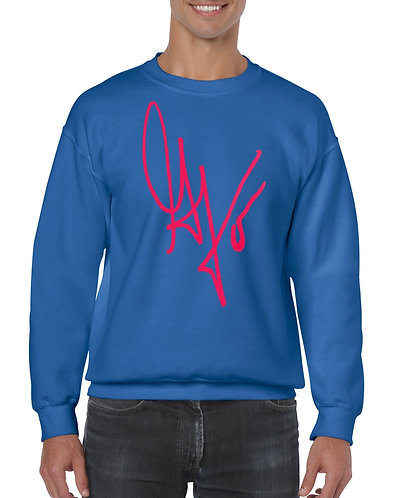 "Unisex ""G's Signature"" Crewneck Sweatshirt (Blue/Hot Pink)"