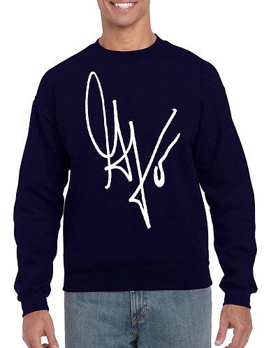 "Unisex ""G's Signature"" Crewneck Sweatshirt (Navy/White)"