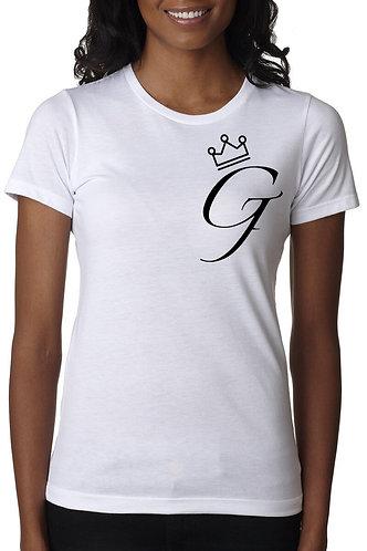"""Women's """"Crown Me G"""" Tee (White)"""