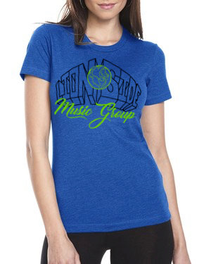 Women's Alternative Lion Side Tee (Blue/Lime/Black)