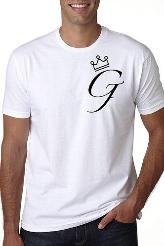 """Men's """"Crown Me G"""" Tee (White)"""
