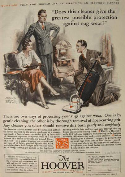 1931 Hoover Vacuum Ad