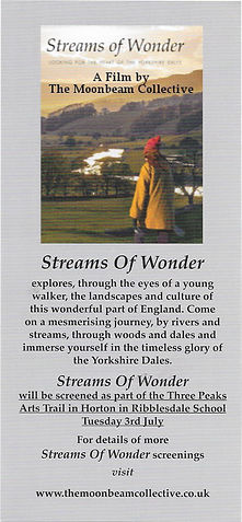 Picture of Streams of Wonder and details of screening at Horton in Ribblesdale on 3rd July