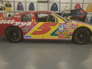 Terry Labonte Bristol winning car on display at Culver Auto Racing Museum.
