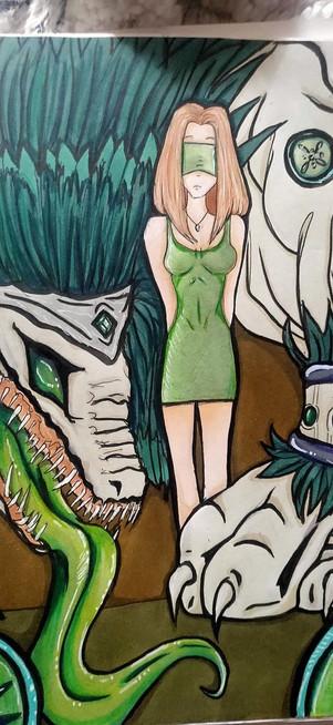 Mirdori Megami (green goddess in japanese) || Micayla Dimech