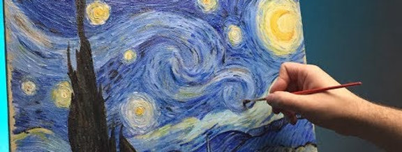 Starry Night Step by Step Painting Thursday 5th August 5:30 - 7pm