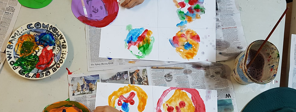 COLOUR PAINTING COLLAGE , 5-7 YRS Tuesdays S 3:45pm-5:15pm