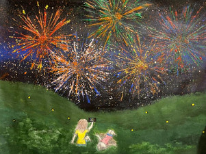 Fireworks at night || Emily Gu