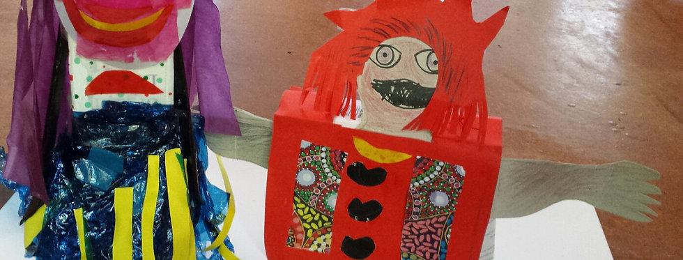 Making a Hand Puppet Kids Online Art Class Saturday 14th August 12 - 1:30pm