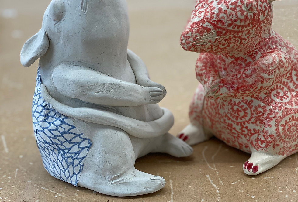 ONLINE CHILDRENS Creating with Clay, 5-12 YRS Fridays  3:30 - 5.00pm