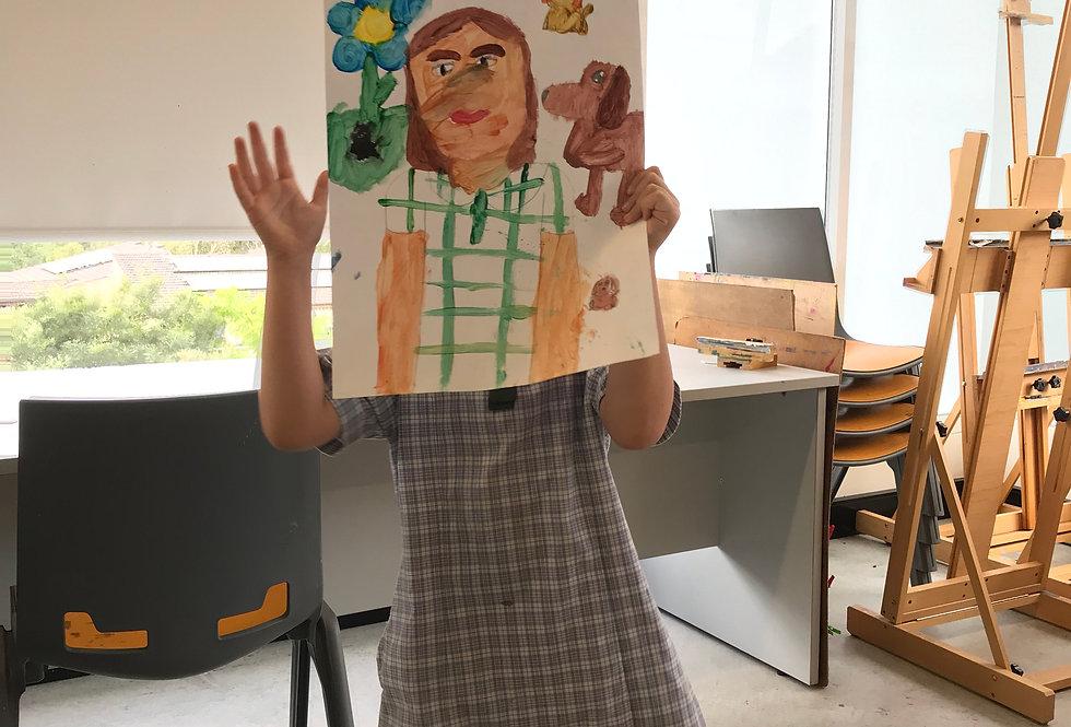 Making Art with Art History MON Kids Art 5-12 Class 3:30 - 5pm 8 week term