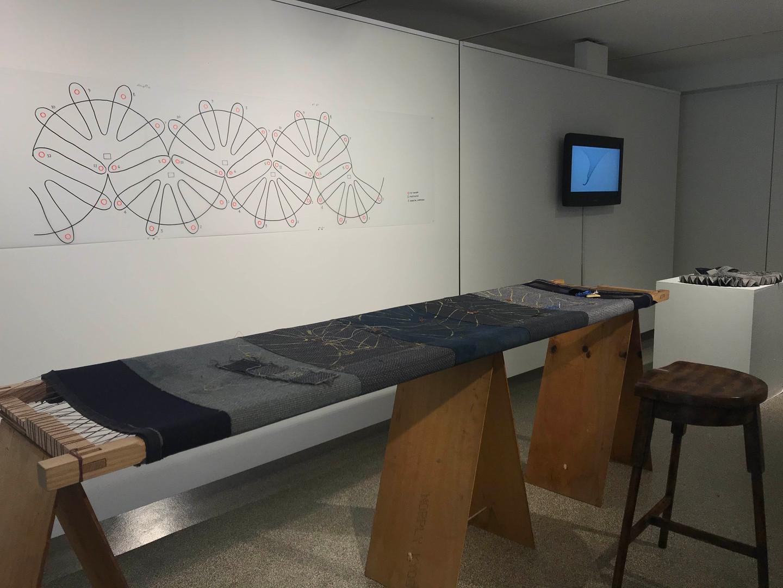 Terrain Blanket 2020- present (ongoing)       double weave merino lambswool, handwoven   cotton, fabric tilt sensor, lilypad, multiplexers, XBEE,  conductive embroidery, horsehair