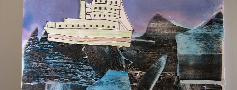 WAVES PAPER COLLAGE  Monday 5th July 9.30-12.30pm