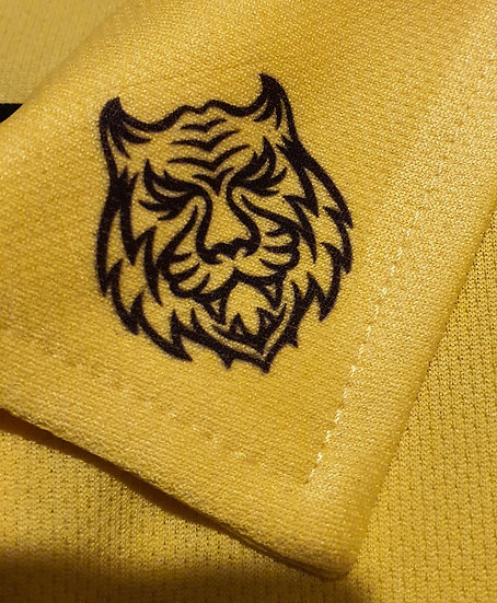 Can't Believe It's Not Putter Yellow Tiger Tech Ladies Polo