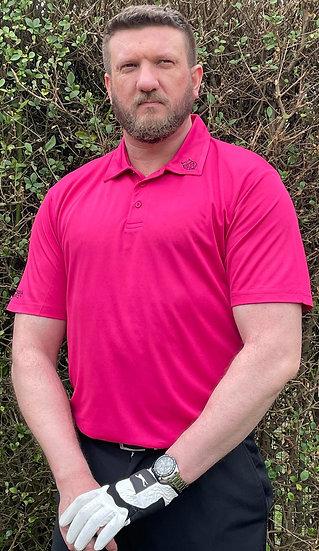 Hot (off the face) Pink Tiger Tech Men's Polo