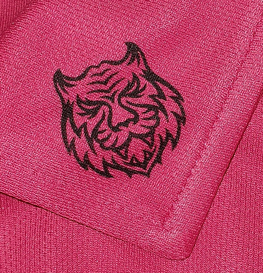 Hot (off the face) Pink Tiger Tech Ladies Polo