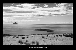 Ailsa Craig and Pladda Island, view from Isle of Arran