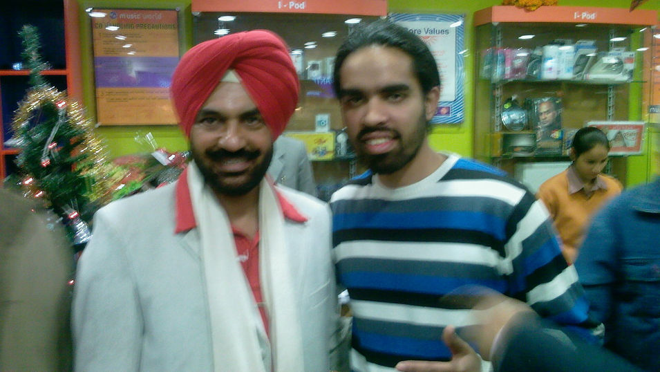 DJ Loch with Pammi Bai during the launch of Music World at Chandigarh, India