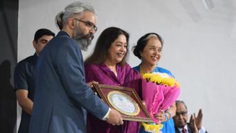 Prabhloch Singh and MP Kirron Kher
