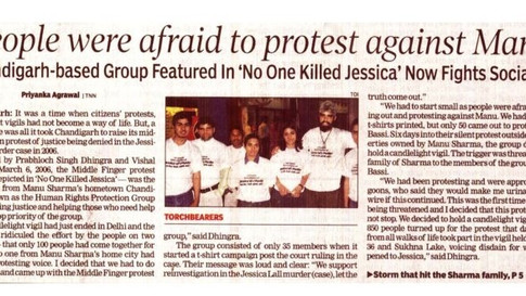 The Times of India - front page - January 13, 2011