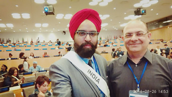 Prabhloch Singh representing India at UN headquarters along with Vineet Kapoor - ADC to the Governor of Madhya Pradesh
