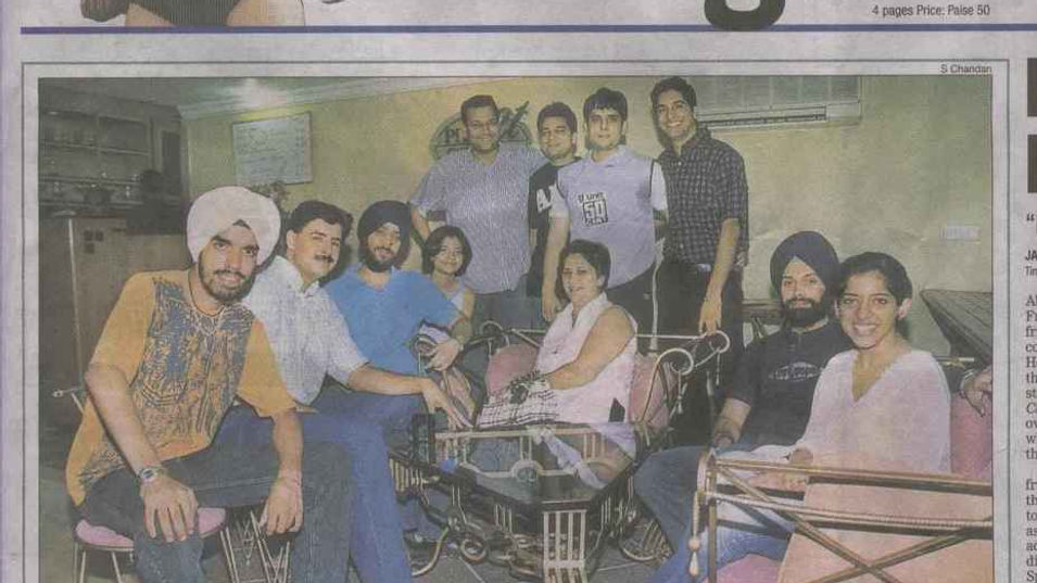 The Times of India - Chandigarh Times - front page - 2004