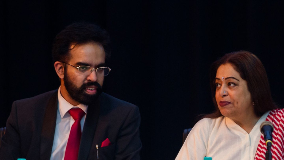 Prabhloch Singh & MP Kirron Kher at the International Conclave on Human Rights