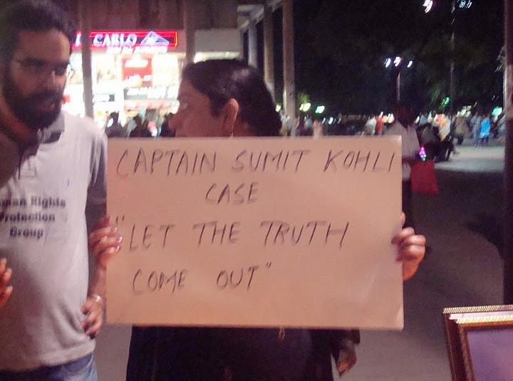 Capt. Sumit Kohli protests - 2011