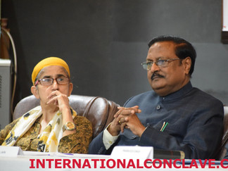 Mejindarpal Kaur of UNITED SIKHS and Shri Satya Pal Jain at the #LeaveNoOneBehind International Conclave on Human Rights, Community Welfare, Philanthropy & UN SDGs 2.0