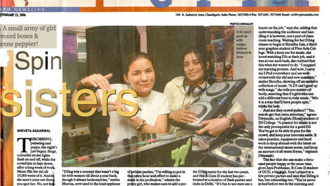 Indian Express - Simplicity front page (Loch's first all girl training batch) - 2006
