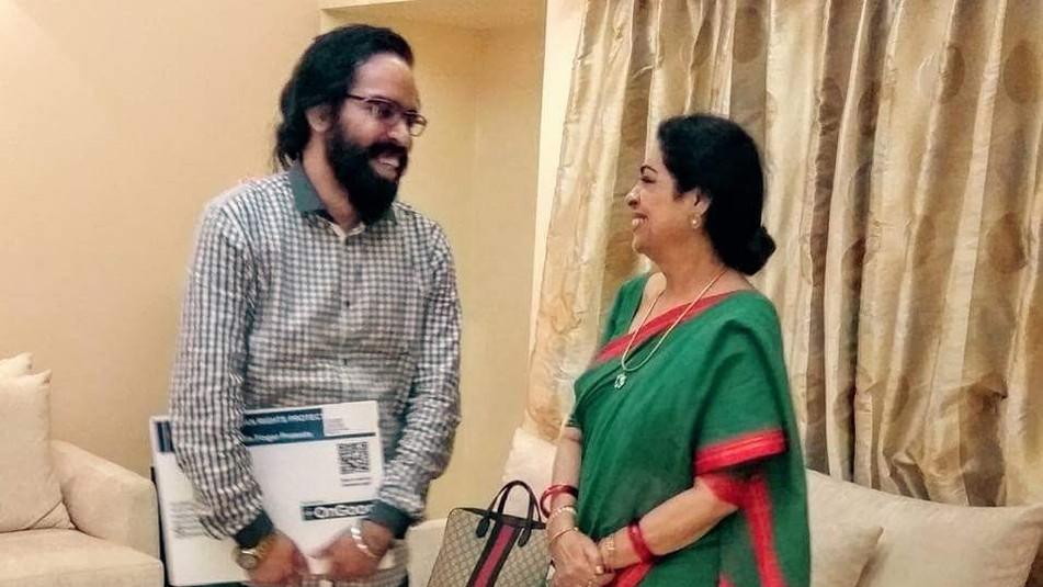 Prabhloch Singh with MP Kirron Kher