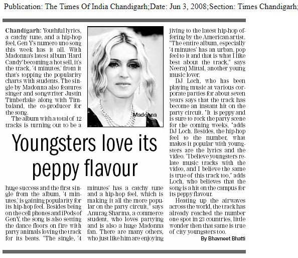 Times of India - June 3, 2008