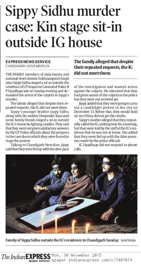 Indian Express - November 30, 2015