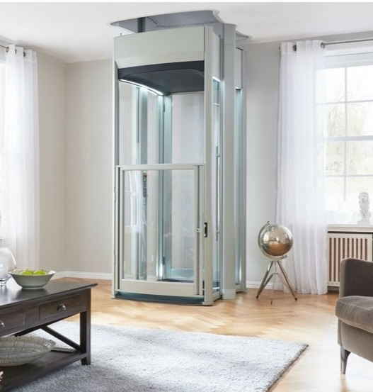 An electrically powered 'through the floor' Home Lift