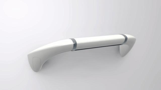 KINBARRE04 Horizontal grab bar 300mm Whi